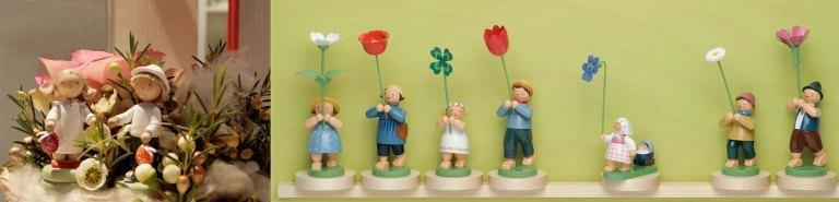 Blumenmädchen und Osterkinder